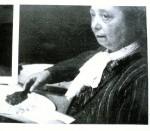 Benvenuta Ascoli e il suo storione del Po. Fotografia tratta da Rivista di Ferrara, n. 7, anno III, luglio 1935.