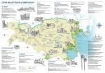 Mappa e disegni del dépliant realizzati da Claudio Gualandi. Impaginazione di Linda Mazzoni