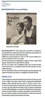 Sesta tappa. Riccardo Bacchelli: le terre del Mulino. Info: Biblioteca comunale