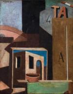 Carlo Carrà, Composizione TA (Natura morta metafisica), 1916-18 (Rovereto, MART)