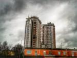 Le nubi sopra il grattacielo ferrarese