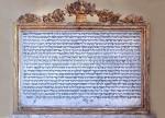 Lapide in ricordo della donazione di Ser Mele da Roma
