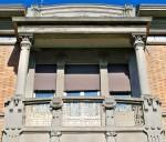 Palazzina Finotti (1908), particolare della facciata. Fotografia di Federica Pezzoli, 2015. © MuseoFerrara