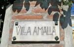Villa Amalia (1905) in viale Cavour 194, la targa all'entrata. Fotografia di Federica Pezzoli, 2015. © MuseoFerrara