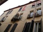 Via Vittoria (già via Gattamarcia). I balconi di via Vittoria. Fotografia di Federica Pezzoli, 2015. © MuseoFerrara