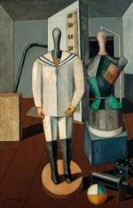 Carlo Carrà, Madre e figlio, 1917 (Milano, Pinacoteca di Brera)