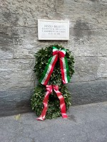 Lapide in memoria di Cinzio Belletti. Fotografia Paola Boccalatte, 2015