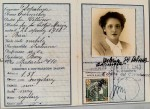 Il falso documento d'identità di Valeria Bassani Sinigaglia, moglie di Giorgio Bassani, realizzato a Firenze nell'ottobre 1943 (foto per gentile concessione della Fondazione Giorgio Bassani)