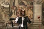 Patty Smith, ospite della città in occasione dell' XI edizione della Biennale Donna, è protagonista di un reading di poesie nella Sala dei Mesi appena restaurata. Fotografia di Marco Caselli Nirmal ©