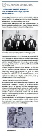 Settima tappa. Carlo Rambaldi una vita straordinaria. Info: Biblioteca comunale e Ufficio Cultura, cultura@comune.vigarano.fe.it