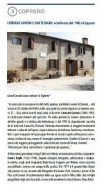 Terza tappa. Corrado Govoni e Dante Bighi: eccellenze del '900 a Copparo. Info: Biblioteca comunale, biblioteca@comune.copparo.fe.it