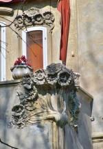 Villa Melchiori (1904), particolare delle decorazioni in stile Liberty di Arrigo Minerbi. Fotografia di Federica Pezzoli, 2015. © MuseoFerrara