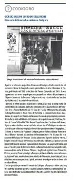 Seconda tappa. Itinerario letterario bassaniano a Codigoro. Info: Biblioteca comunale